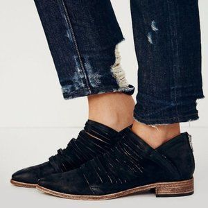 Free People Lost Valley Ankle Bootie Washed Black